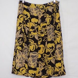 Who What Wear Floral Strips Skirt, Sz 8